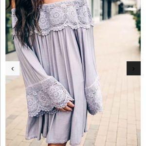 Black VICI Lace OTS Dress